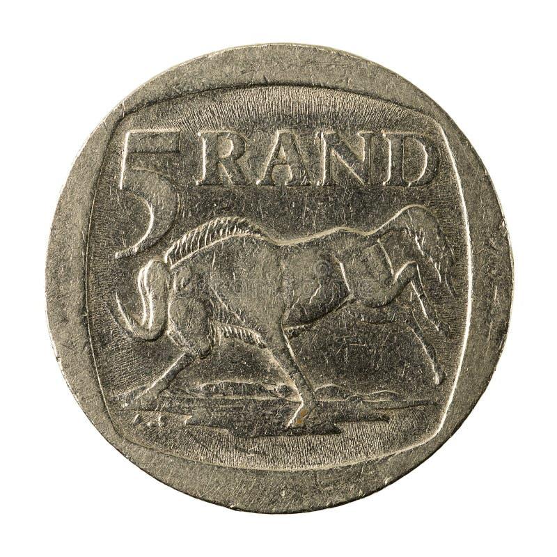 5 complemento della moneta 2004 del Rand sudafricano immagine stock