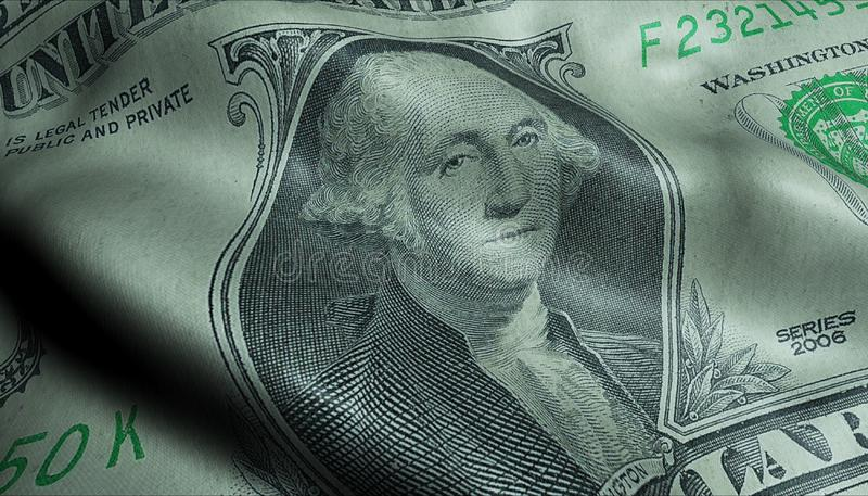 Complemento di George Washington Crumpled One Dollar Bill di Presidente degli Stati Uniti fotografia stock