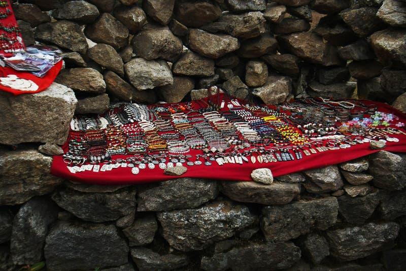 Complementos tibetanos, región Nepal de Everest fotografía de archivo libre de regalías