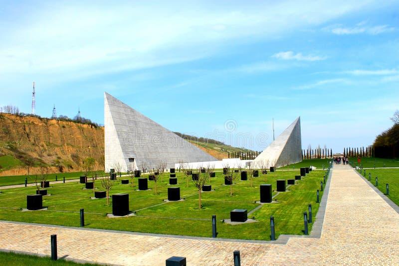 Complesso commemorativo di genocidio, Guba, Azerbaigian fotografie stock libere da diritti