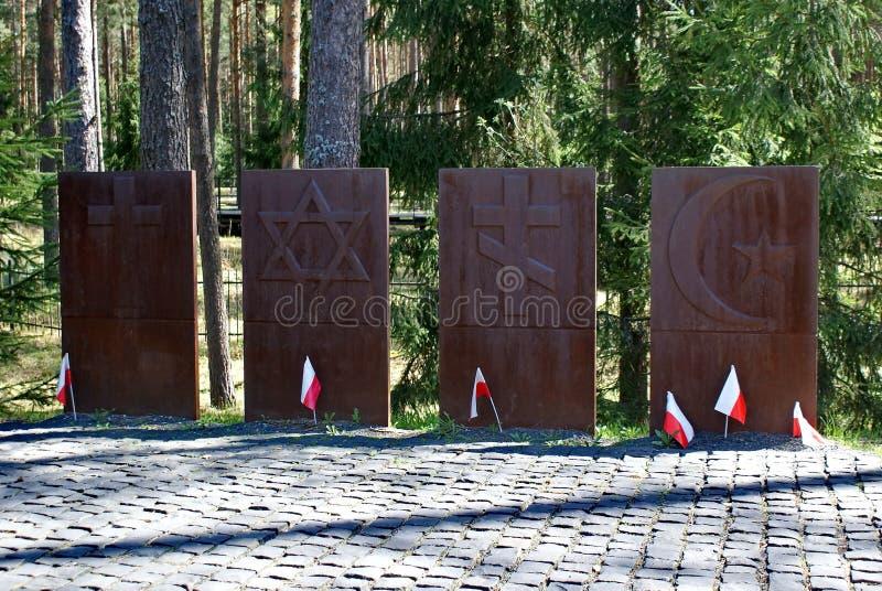 Complesso commemorativo ?Katyn ?- un memoriale internazionale alle vittime di repressione politica ? situato nella foresta di Kat fotografia stock libera da diritti