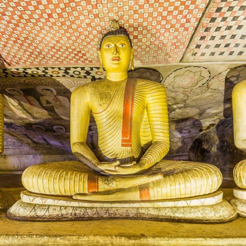 Complesso del tempio della caverna in Dambulla, Sri Lanka fotografie stock