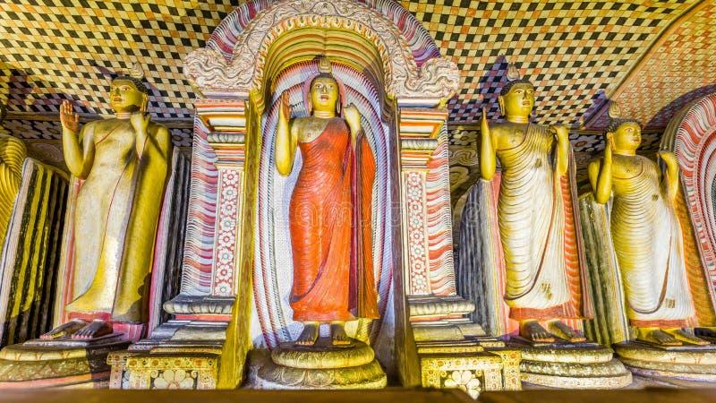 Complesso del tempio della caverna in Dambulla, Sri Lanka immagini stock libere da diritti