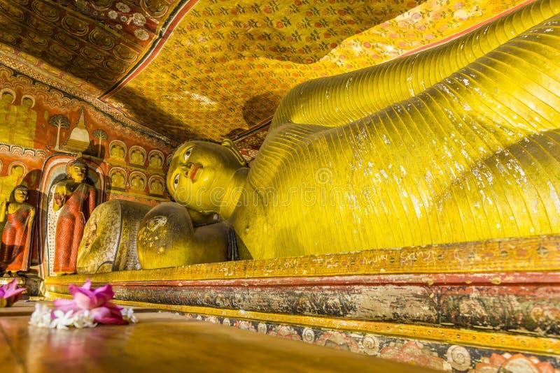 Complesso del tempio della caverna in Dambulla, Sri Lanka fotografia stock libera da diritti