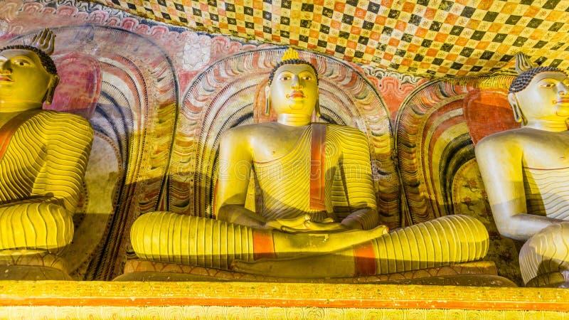 Complesso del tempio della caverna in Dambulla, Sri Lanka fotografie stock libere da diritti