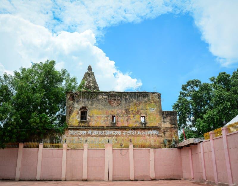 Complesso del tempio di Mahabodhi in Gaya, India fotografia stock libera da diritti