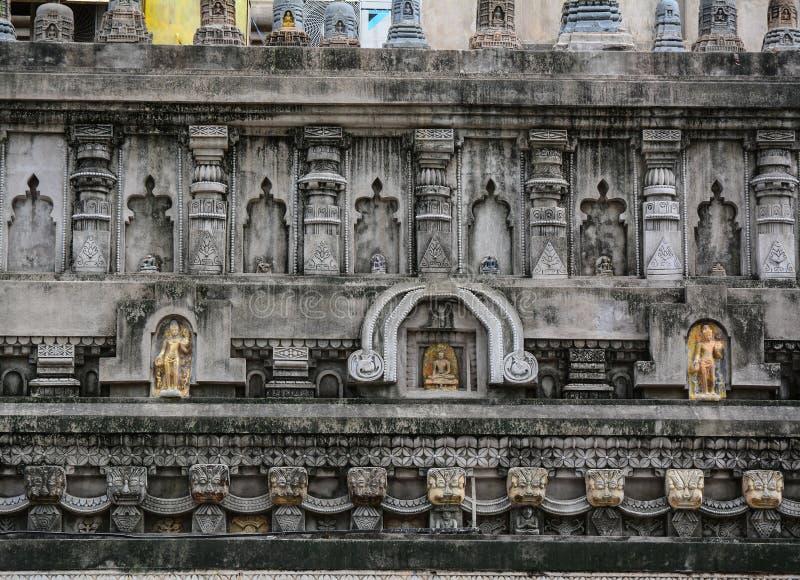 Complesso del tempio di Mahabodhi in Gaya, India fotografia stock
