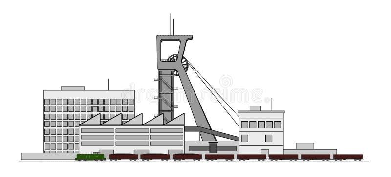 Complesso della miniera illustrazione vettoriale