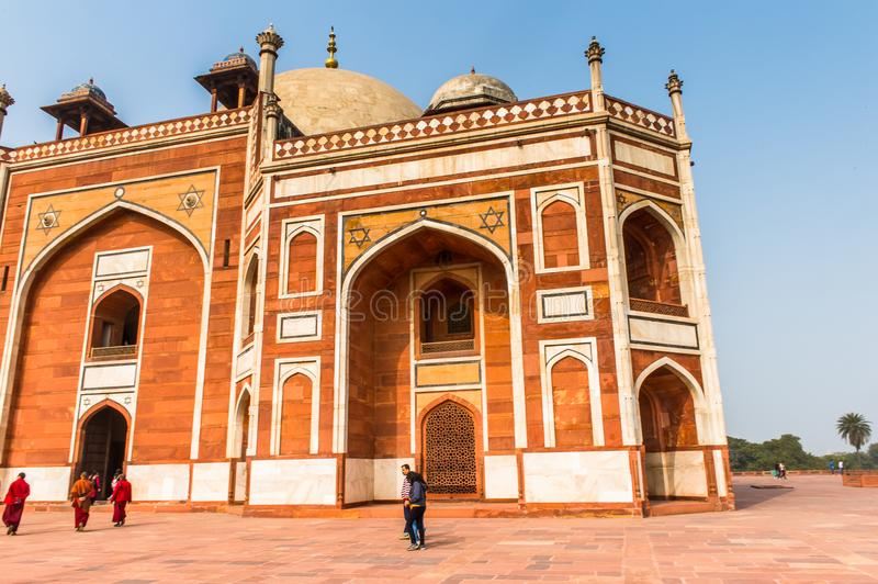 Complesso della tomba di Humayun, la tomba dell'imperatore Humayun di Mughal dentro immagini stock libere da diritti
