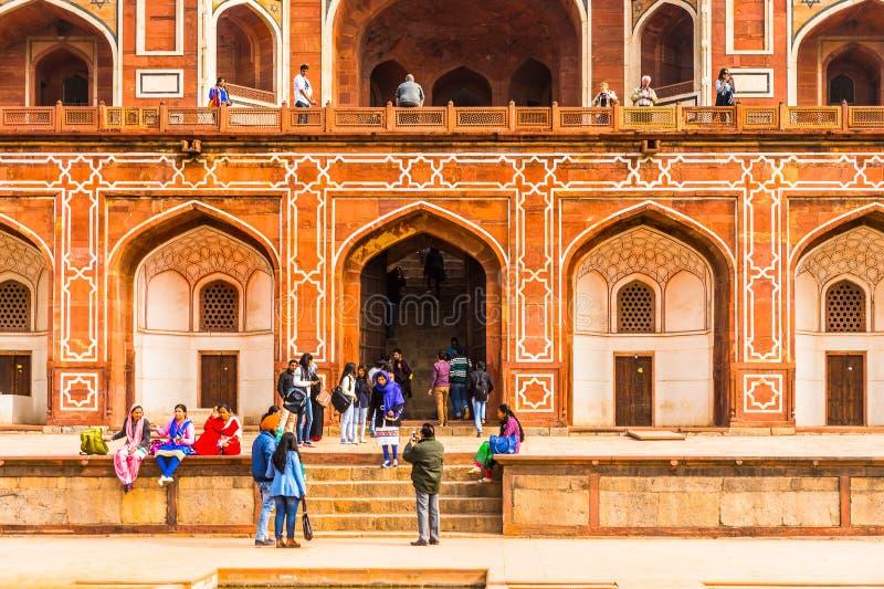 Complesso della tomba di Humayun, la tomba dell'imperatore Humayun di Mughal dentro immagine stock