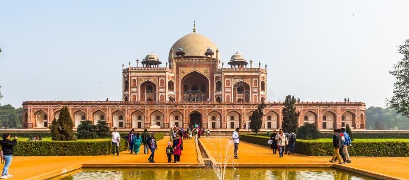 Complesso della tomba di Humayun, la tomba dell'imperatore Humayun di Mughal dentro fotografia stock libera da diritti