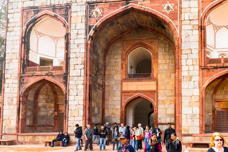 Complesso della tomba di Humayun, la tomba dell'imperatore Humayun di Mughal dentro immagine stock libera da diritti