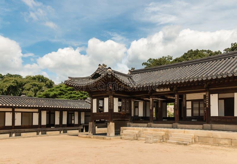 Complesso di Nakseonjae nel palazzo di Changdeokgung, Seoul, Corea del Sud fotografia stock