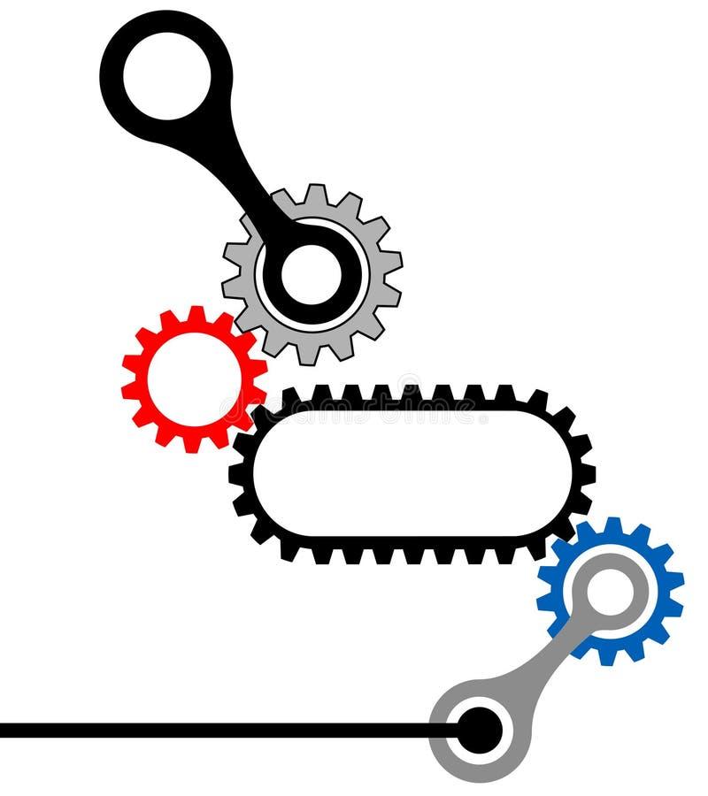 Complesso industriale Scatola ingranaggi-Meccanico illustrazione di stock