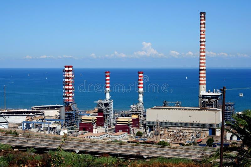 Complesso industriale in Sicilia immagini stock libere da diritti