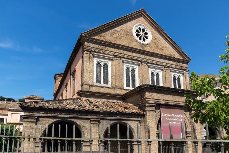 Complesso Monumentale S Spirito in Saxia in der Stadt von Rom, Italien lizenzfreies stockfoto