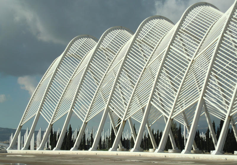 Complesso olimpico di Atene immagini stock libere da diritti