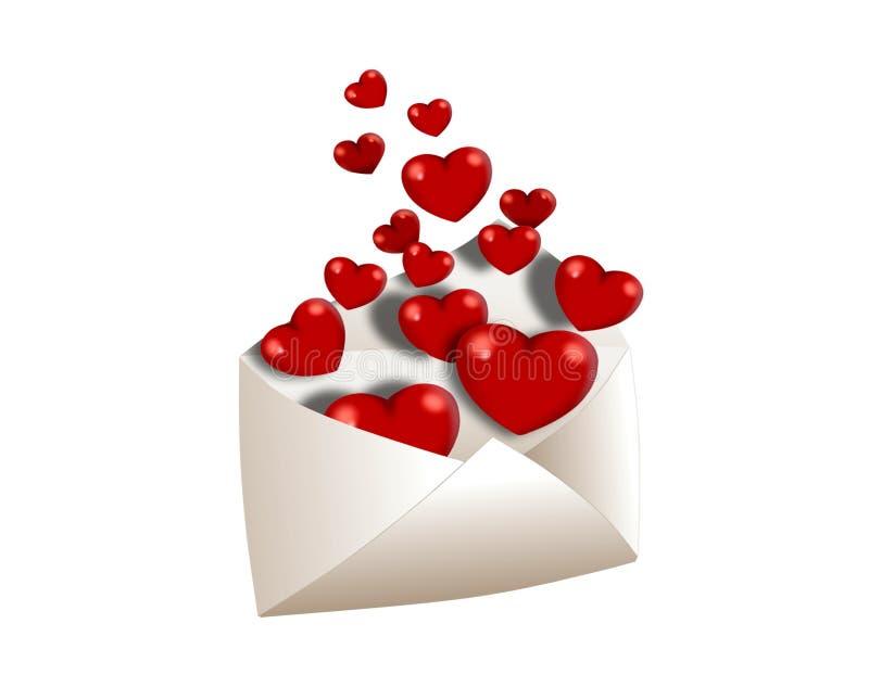 Completamente do envelope do amor ilustração stock