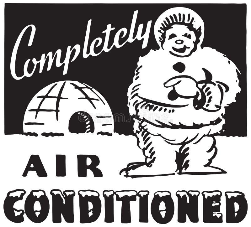 Completamente l'aria ha condizionato illustrazione di stock