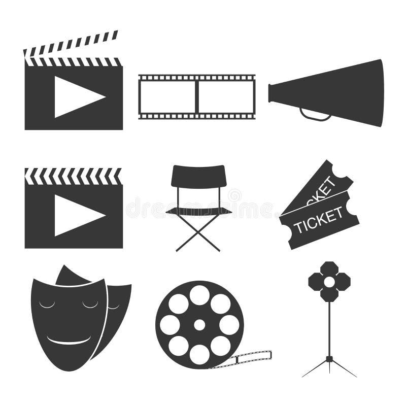 Completamente varios elementos del cine dise?an Pel?cula icon Ilustraci?n del vector libre illustration