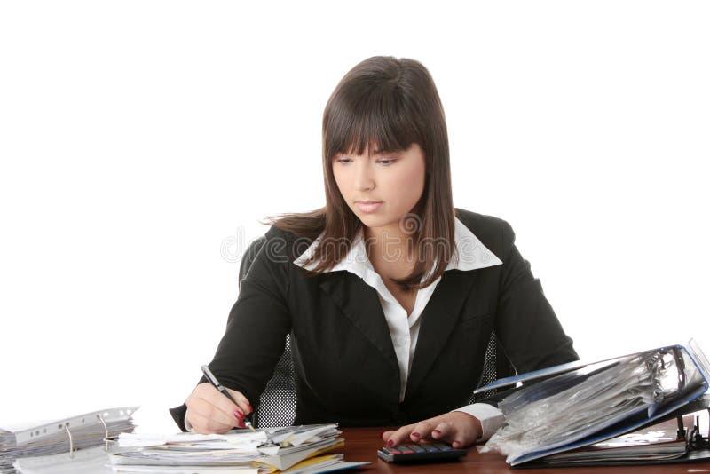 Download Completando Formulários De Imposto Foto de Stock - Imagem de menina, escritório: 12800294