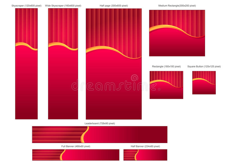 Complete Banners Pack 2 royalty free stock photography