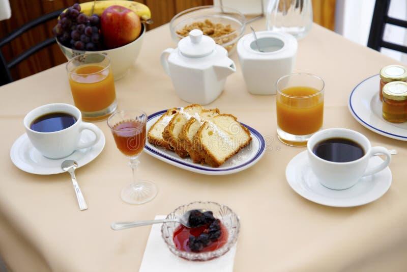Classic Breakfast table stock photos