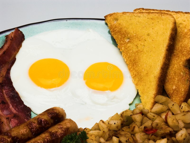 Complete Egg Breakfast stock photography