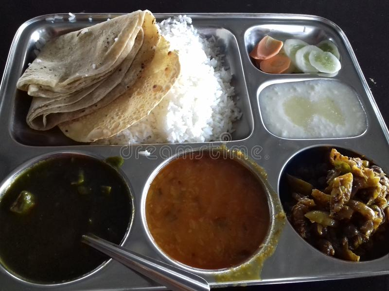Complete indian meal stock photography
