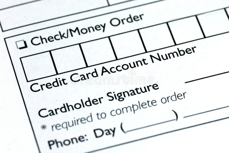 Complete la información de la tarjeta de crédito fotos de archivo libres de regalías
