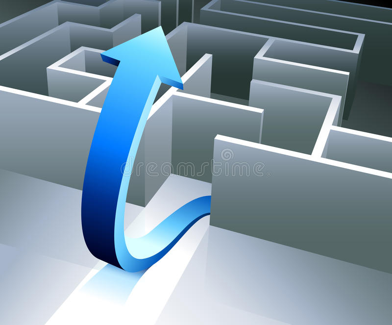 Complete the Maze. Original Vector Illustration Maze Illustration Ideal for Business Concept vector illustration