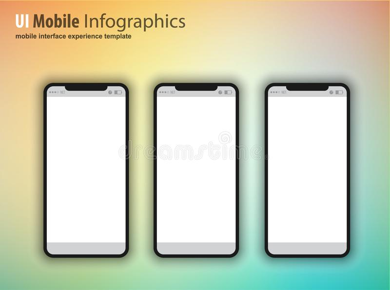 Complete Next generation device family included mobile phones, t stock illustration