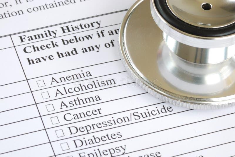 Complete o questionário médico fotos de stock