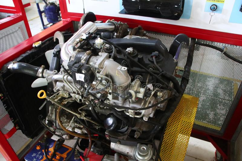 A complete picture of the Toyota Fortuner engine, the type of diesel engine,. To be made to study the practice of car engine technicians in the workshop, Batang stock photos