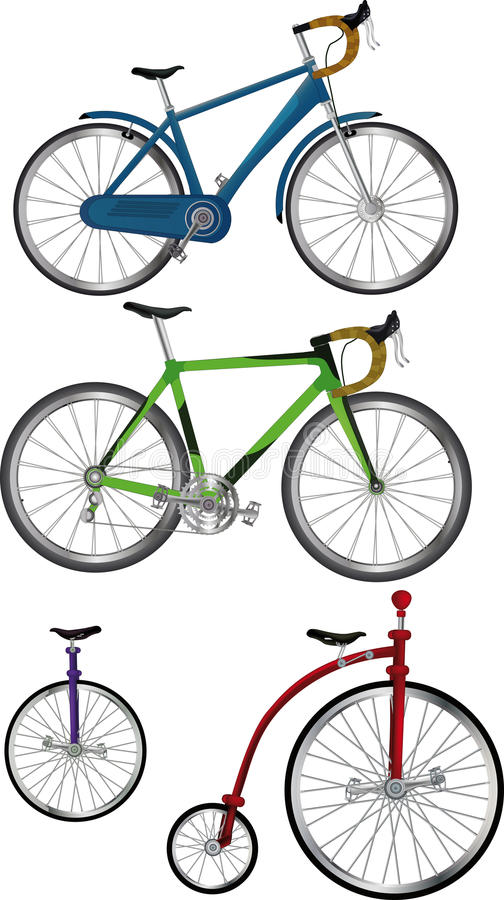 The Complete Set Bicycles Stock Image