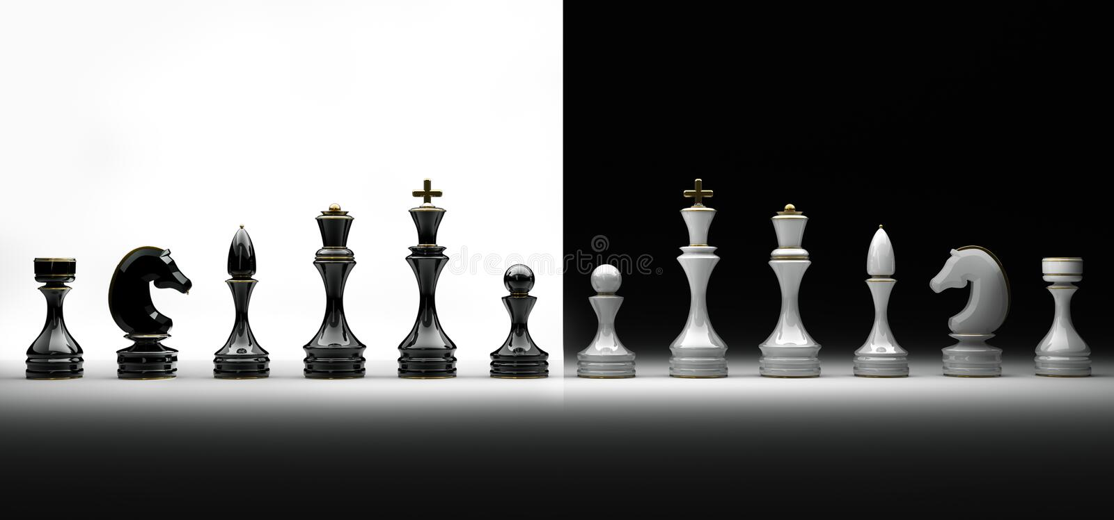 Complete set of chess royalty free stock photo