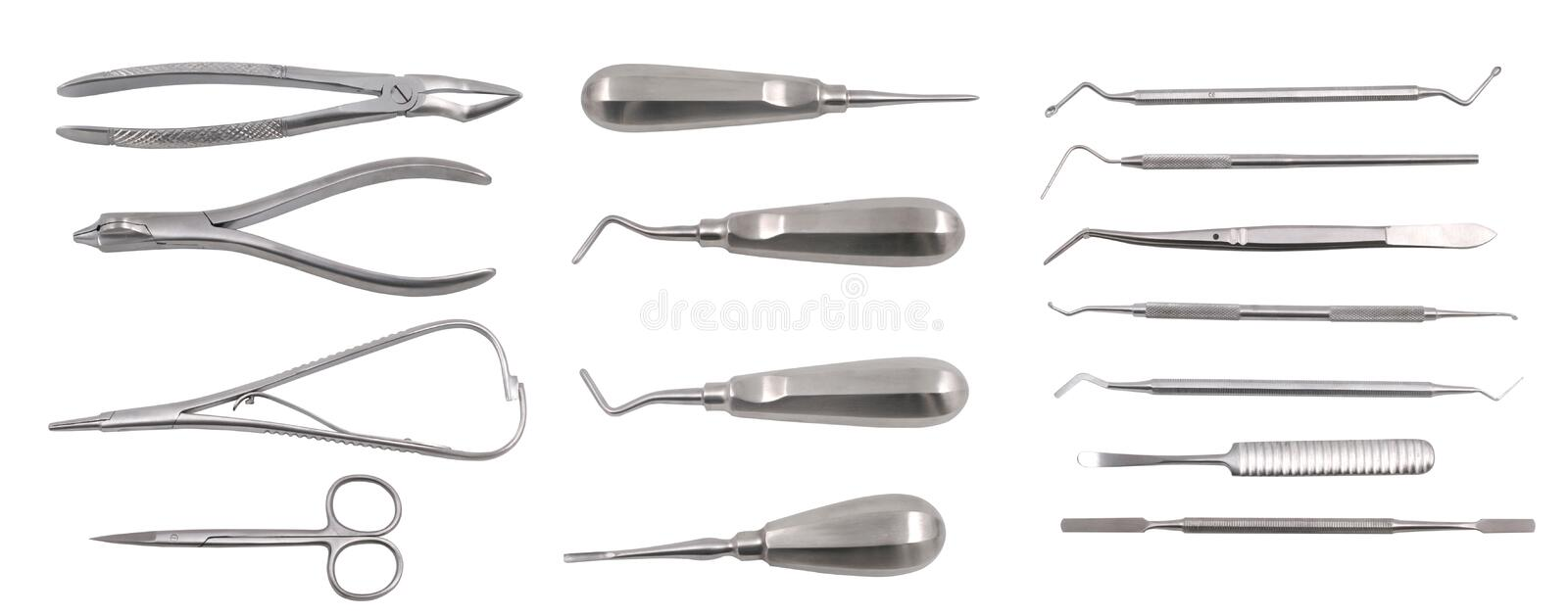 Complete set of dentist equipment stock photography