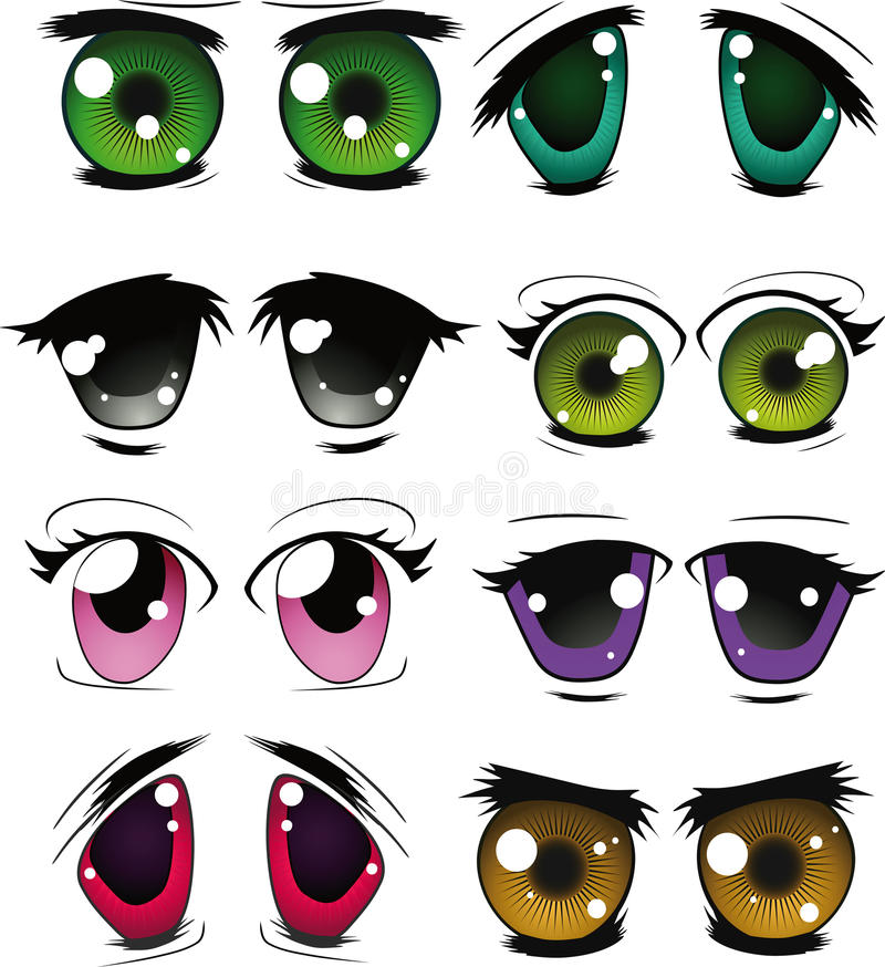 The complete set of the drawn eyes. Set of doll eyes for creation of cartoon films