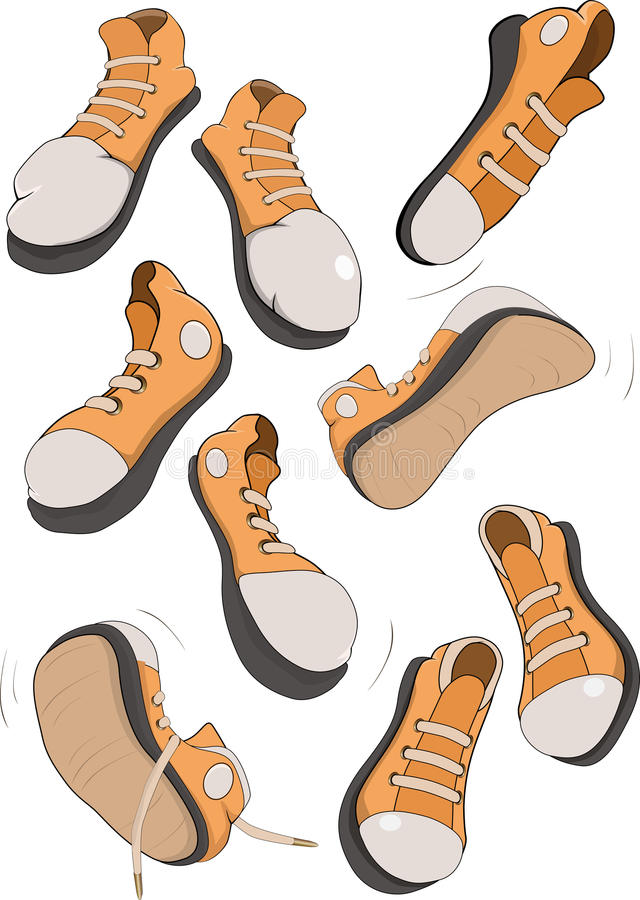 Download The Complete Set Of Sports Footwear Stock Vector - Image: 15724000