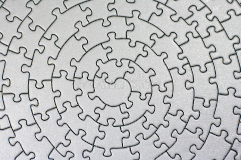 Complete silver jigsaw stock illustration