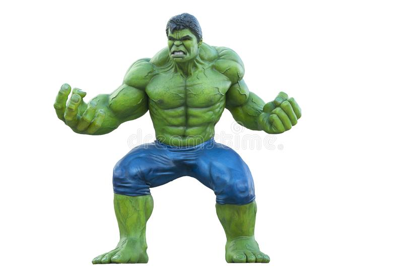 Complete statue of hulk superhero in disney paris. The image represents the complete statue of hulk, photographed in disney paris, the superhero was photographed royalty free stock photos