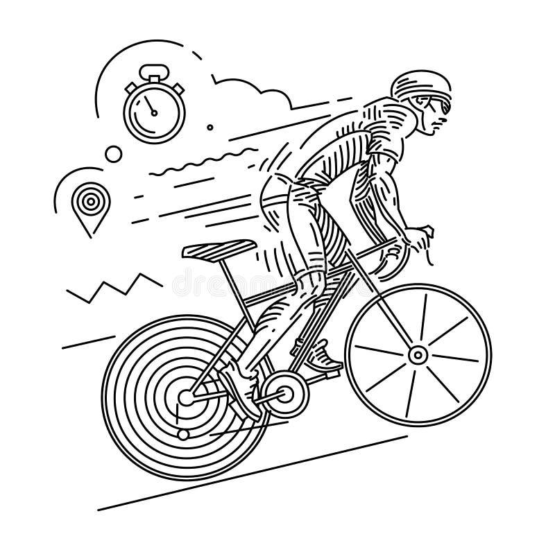 Complete un ciclo la raza Actitud dinámica libre illustration