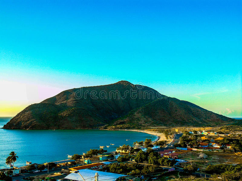 Complete view of a bay in margarita royalty free stock images