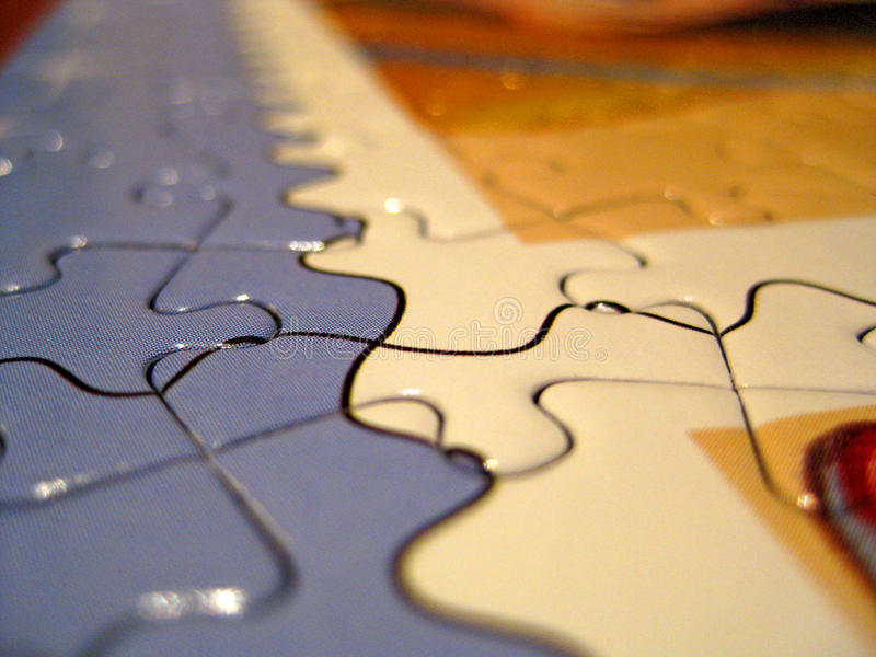 Download Completed jigsaw stock photo. Image of pieces, details - 9611728