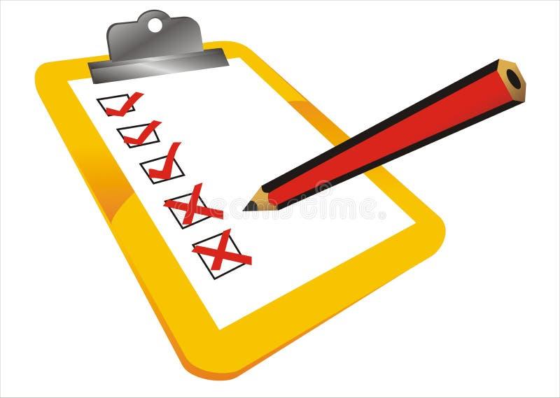 Download Completed tasks stock illustration. Illustration of list - 8739649