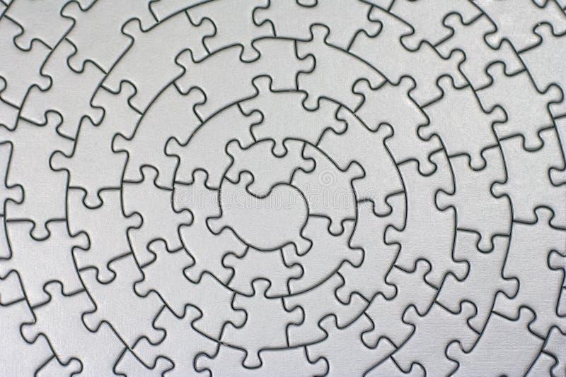 Completi il puzzle d'argento illustrazione di stock