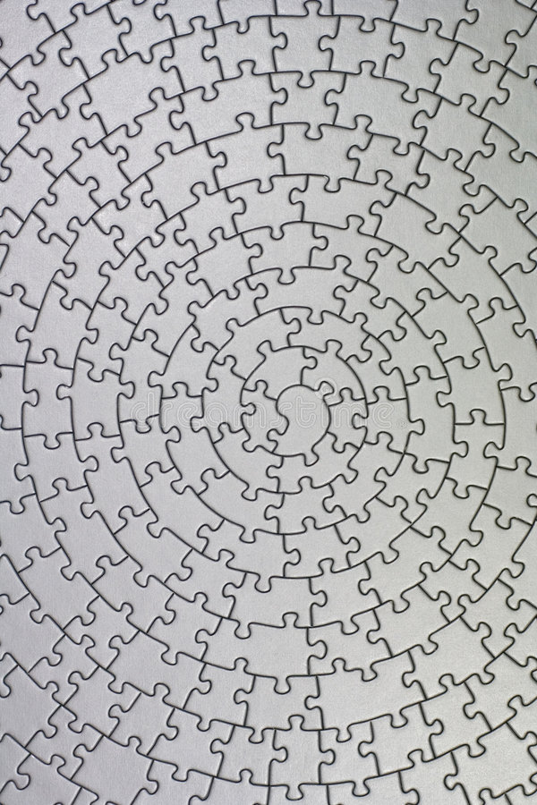 Completi il puzzle d'argento illustrazione vettoriale