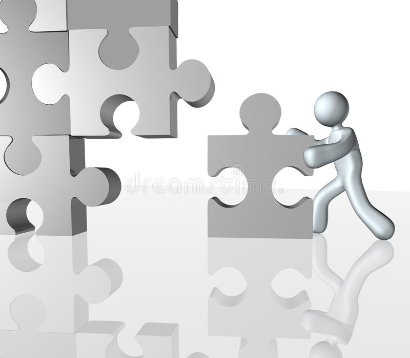 Download Completing Jigsaw puzzle stock illustration. Image of pieces - 14486894