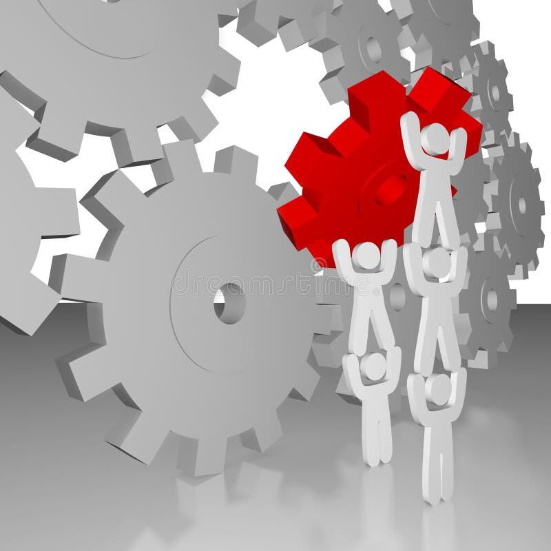 Download Completing The Job - Teamwork Stock Illustration - Image: 14271265