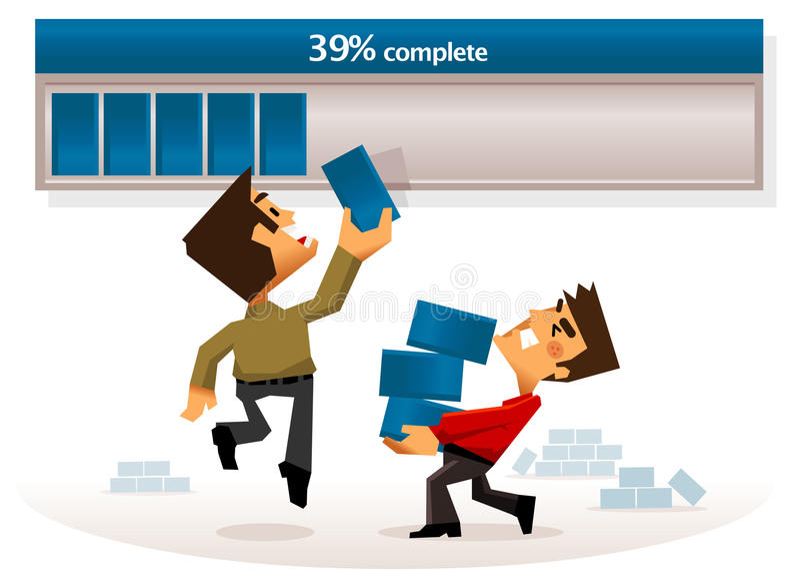 Download Completing work progress stock vector. Image of element - 24724449
